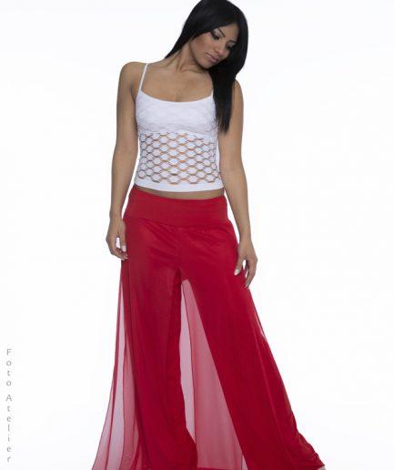 Bauchtanzhose Shimmy Pant Rot