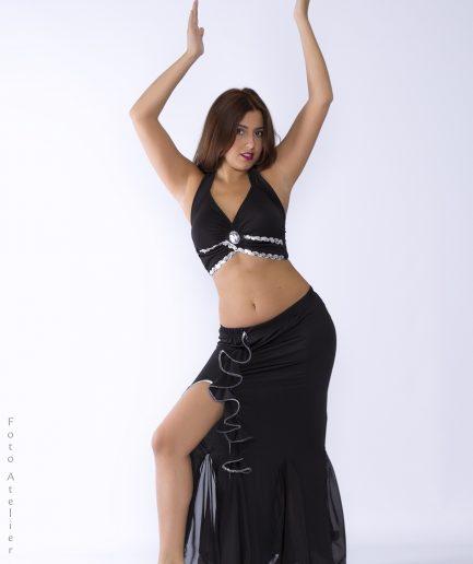 Bauchtanzkostüm Orient Inside Flamenco - schwarz