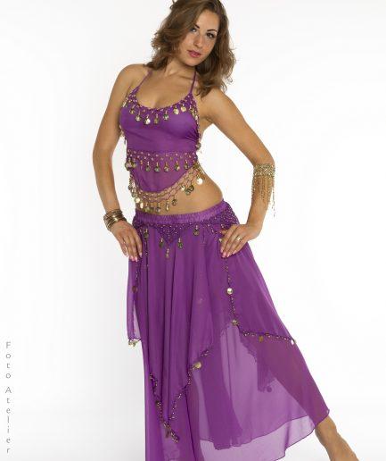 Bauchtanzkostüm Orient Inside Oriental Gypsy lila