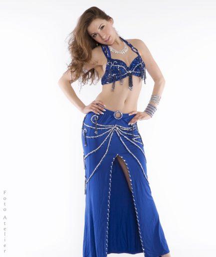 Bauchtanzkostüm Profi-Serie Didem - royalblau