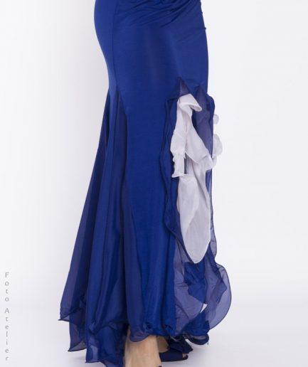 orientinside_Bauchtanzrock Argentino - royalblau weiß