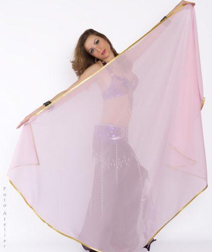 Bauchtanzschleier Orient Inside rosa