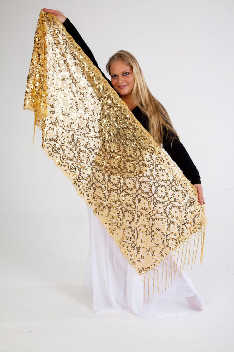 Orientalische Stola Hanami - gold-0