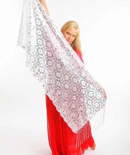Orientalisches Tuch Nura Weiß