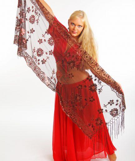 Orientalisches Tuch Sultana Braun