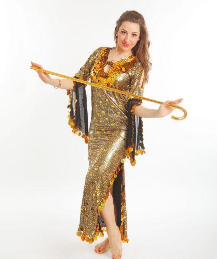 Tanzstock mit Krücke - gold Orient Inside