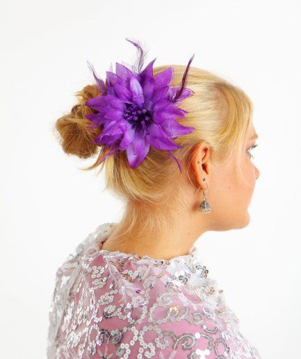 Blumen-Haarschmuck Feather Lila Orient Inside