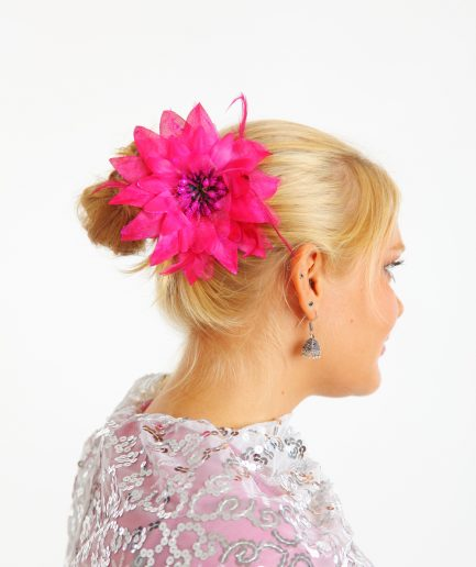 Blumen-Haarschmuck Feather Pink Orient Inside