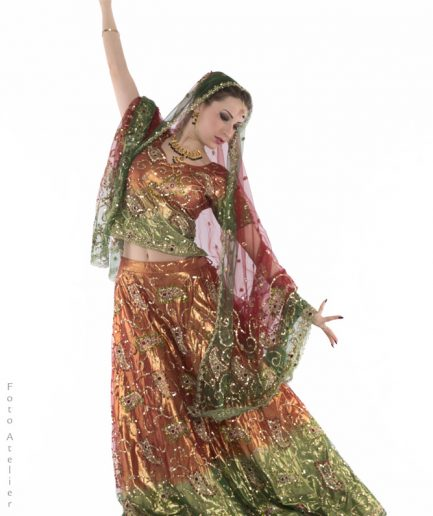 Bridal Lehenga Choli - Multicolor Orient Inside