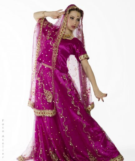 Bridal Lehenga Choli - pink Orient Inside