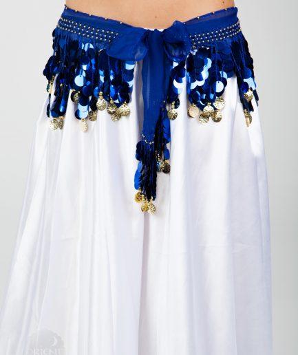 Chiffon-Hüfttuch Holo Blau