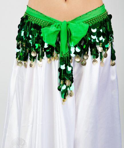 Chiffon-Hüfttuch Holo Grün