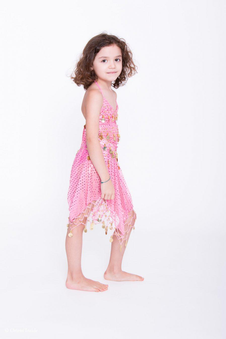 Kinder Bauchtanzkostüm Sparkle - 4-7 J.- dunkelgrün2