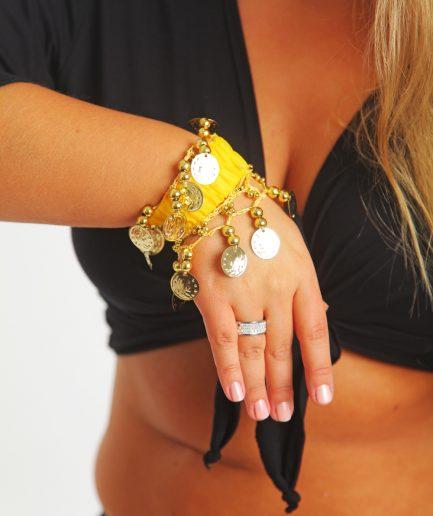 Kinder Armband Jingle Klimperlis Gelb Gold Orient Inside