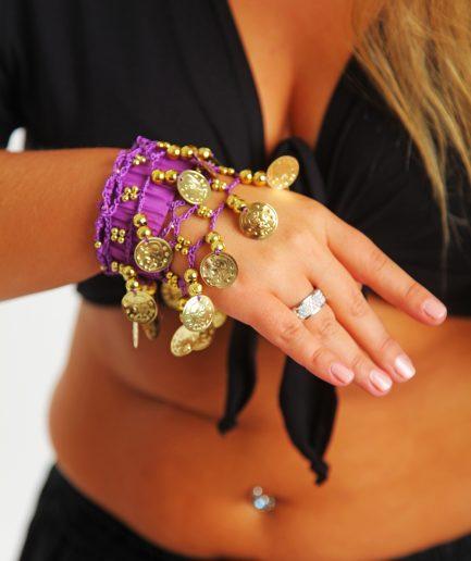 Kinder Armband Jingle Klimperlis Lila Gold Orient Inside