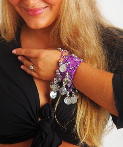 Kinder Armband Jingle Klimperlis Lila Silber Orient Inside
