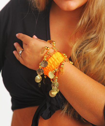 Kinder Armband Jingle Klimperlis Orange Gold Orient Inside