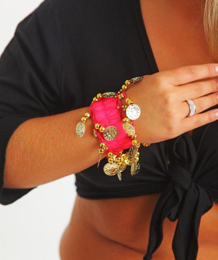 Kinder Armband Jingle Klimperlis Pink Gold orient inside