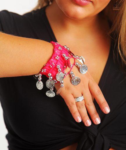 Kinder Armband Jingle Klimperlis Pink Silber Orient Inside