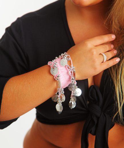 Kinder Armband Jingle Klimperlis Rosa Silber Orient Inside