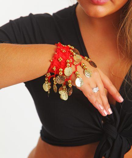 Kinder Armband Jingle Klimperlis Rot Gold Orient Inside