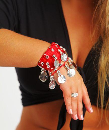 Kinder Armband Jingle Klimperlis Rot Silber Orient Inside