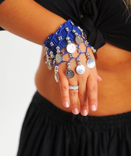 Kinder Armband Jingle Klimperlis Royalblau Silber Orient Inside
