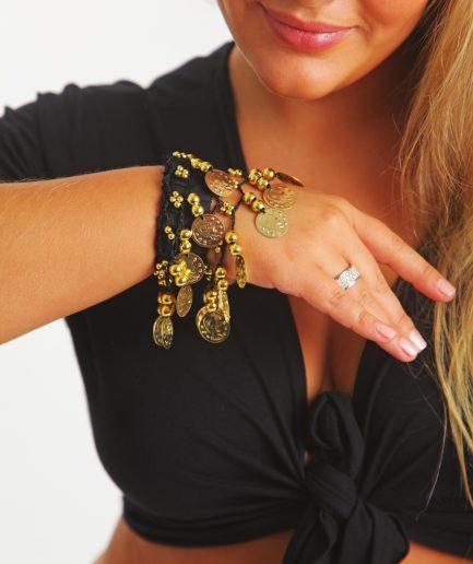 Kinder Armband Jingle Klimperlis Schwarz Gold Orient Inside