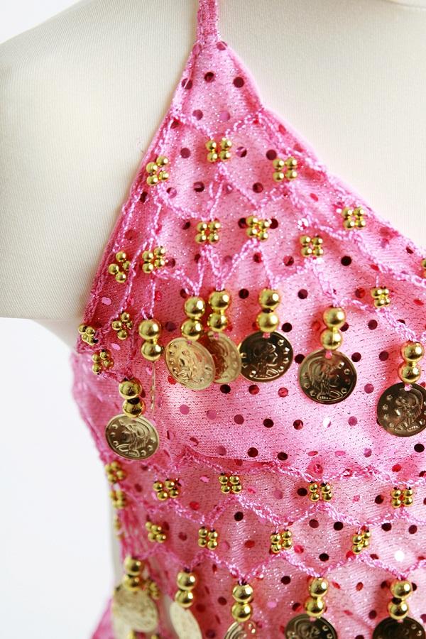 Kinder Bauchtanzkostüm Orient Inside Sparkle rosa3