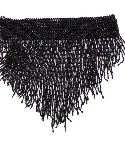 Perlengürtel Shimmy - schwarz