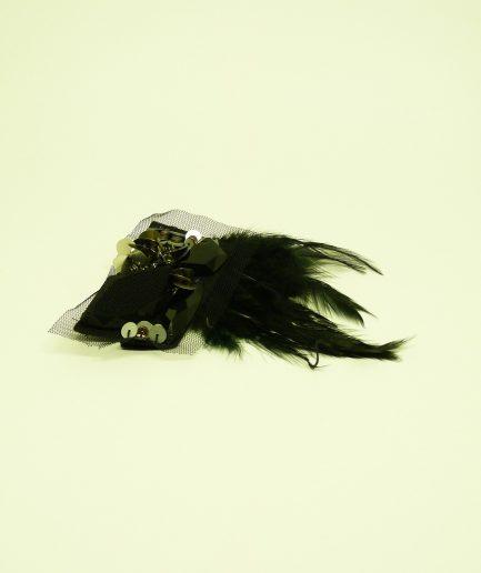 Tribal Haarschmuck - Fascinator - schwarz