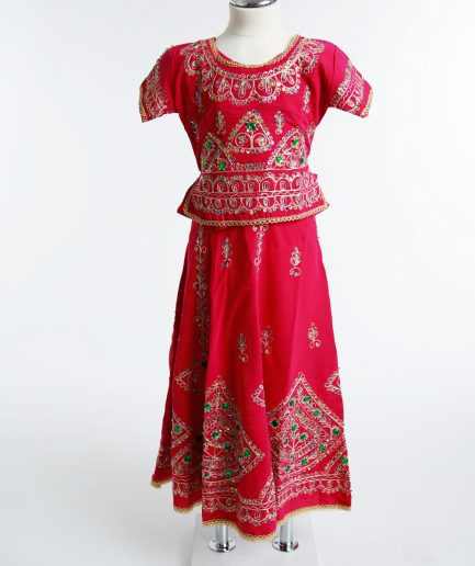 Kinder Bollywoodkostüm Lathika - pink
