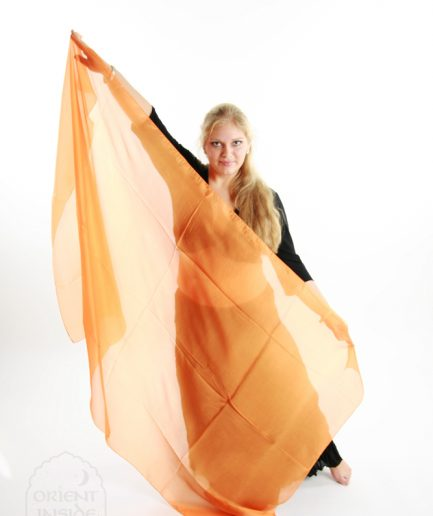 Bauchtanzschleier Seide Orient Inside Bauchtanzkostüme Orange