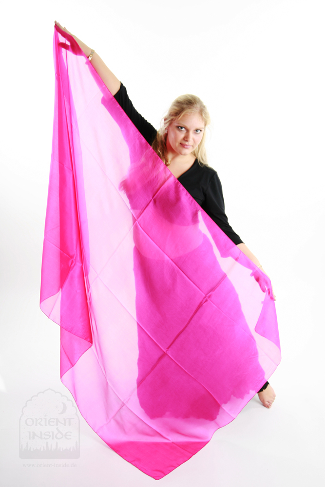 Bauchtanzschleier Seide Orient Inside Bauchtanzkostüme Pink