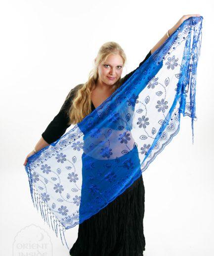 orientalische stola blau florya