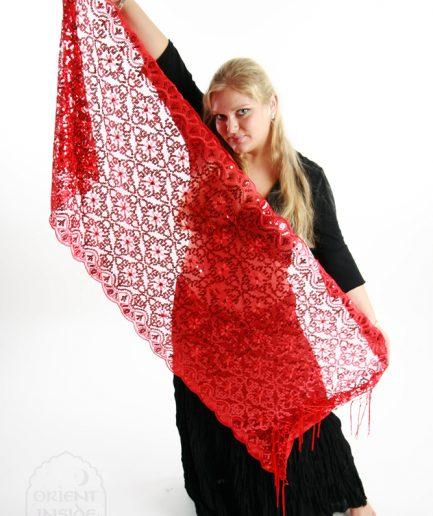 Orientalisches Tuch Nura rot