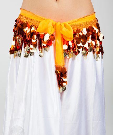 Chiffon-Hüfttuch Holo - orange