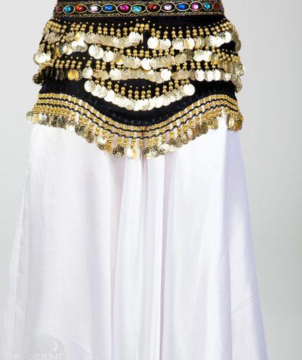 Samt-Hüfttuch Oriental - schwarz/gold3