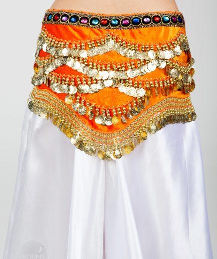 Samt-Hüfttuch Oriental - orange3