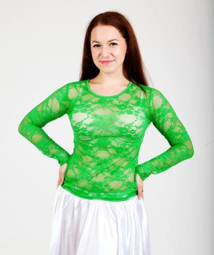 Bauchtanztop Lace - Gr.36-40 - grün