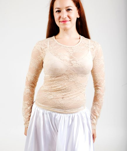 Bauchtanztop Lace - Gr.36-40 - nude