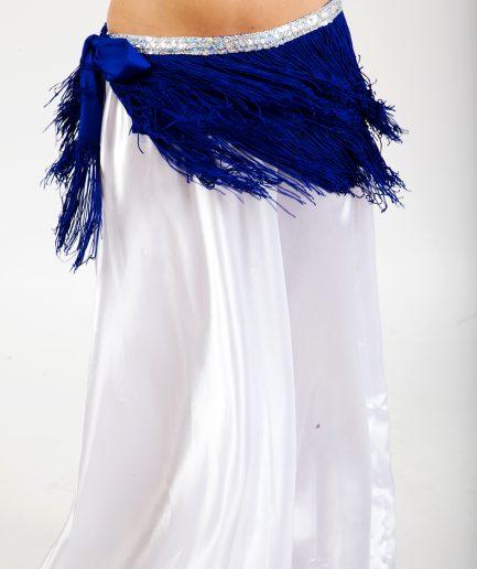 Hüfttuch Shimmy Love - blau silber