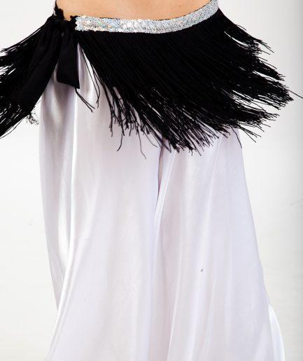 Hüfttuch Shimmy Love - schwarz silber