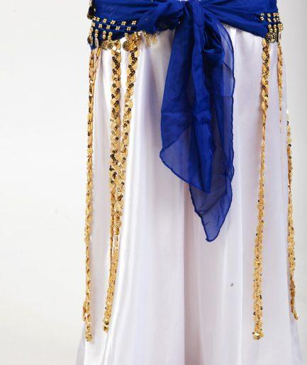 Hüfttuch Tribe - blaugold1