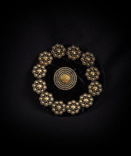 Tribal Medaillon - Velvet - schwarz