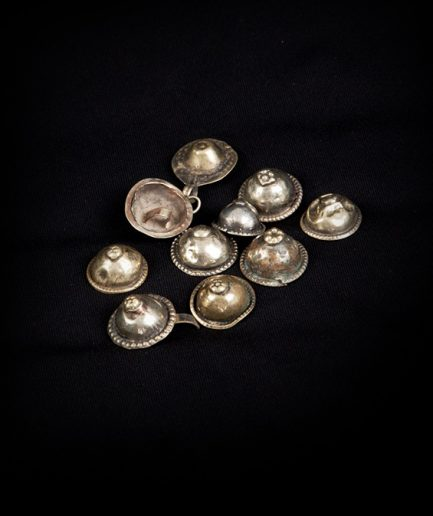 Turkoman Buttons - lose - silber