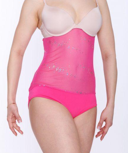 Body Glamour mit Bauchnetz - Gr.38-46 - pink