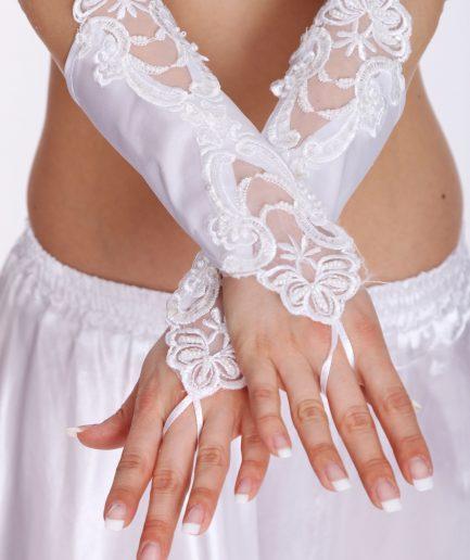 Bauchtanzhandschuhe Lace - weiß