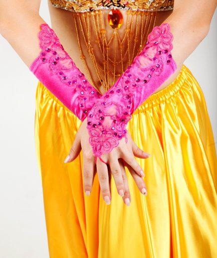 Bauchtanzhandschuhe Lace - pink