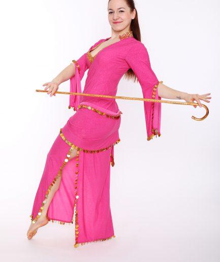 Baladikleid Premium Kollektion Daria - Gr.36-38 - pink/glitter